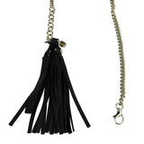 Gucci Women's Chain Tassel Gold / Black Leather Belt 388992 8061