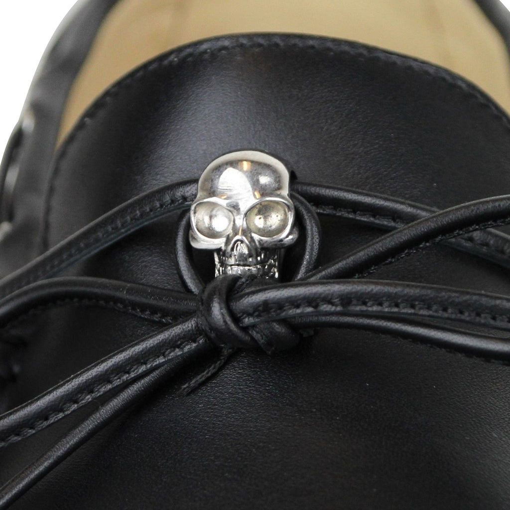 Alexander McQueen Loafers Silver Skull - Pure Leather