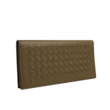Bottega Veneta Men's Woven Long Light Brown Leather Bifold Wallet 390878 2314