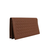 Bottega Veneta Bifold Wallet Long Brown Leather