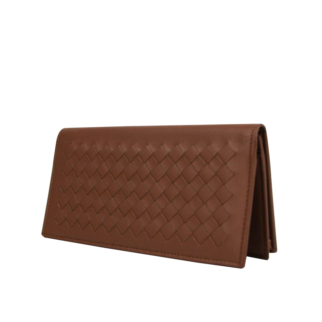 Bottega Veneta Bifold Wallet Long Brown - Front Look