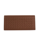 Bottega Veneta Bifold Wallet Brown Leather - Front Look