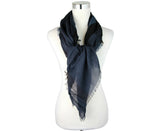 Burberry Unisex Navy Silk / Modal Lightweight Check Large Square Scarf 40173451