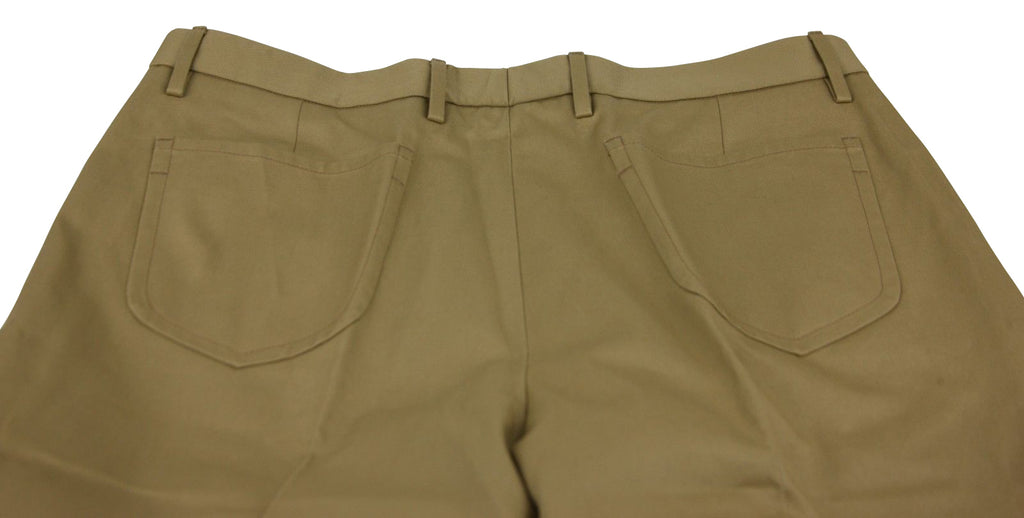 Gucci Men's Military Drill Light Brown Cotton Dress Pant 406453