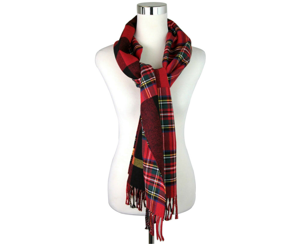 Burberry Women's Bright Red Wool Vintage Check Scarf 40677541