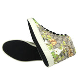 Gucci Men's Bloom Print Supreme GG Green Canvas Hi Top Sneakers Shoes 407342 8960