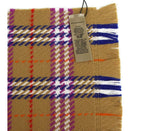 Burberry Women's Antique Multicolour Vintage Check Extra Fine Merino Wool Scarf 4080043 - LUX LAIR