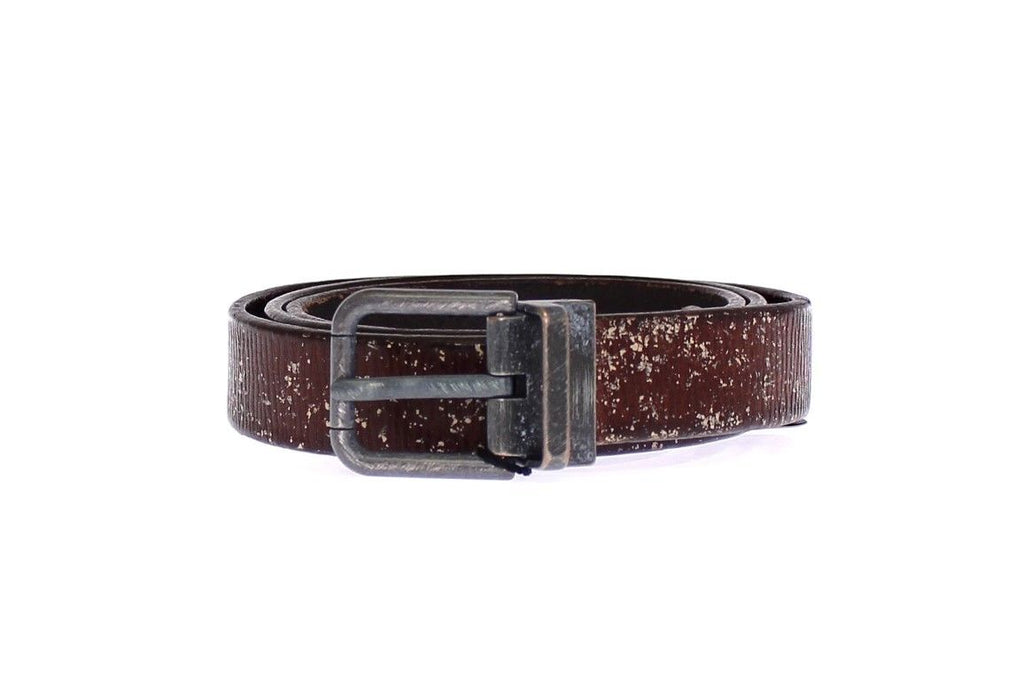 Dolce & Gabbana Logo Brown Leather Men's Belt