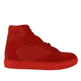 Balenciaga Men's Hi Top Red Nu-buck Suede / Rubber Sneaker 412347