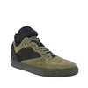 Balenciaga High Top Black / Olive Green Suede Leather Sneakers 412349 3241