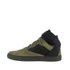 Balenciaga Men's High Top Black / Olive Green Suede Leather Sneakers 412349 3241