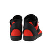 Balenciaga High Top Black / Red Suede Leather Sneakers 412349 6561