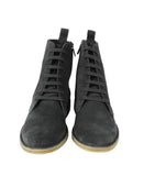 Bottega Veneta Men's Dark Gray Suede Side Zipper Lace-Up Boot 427383 2015