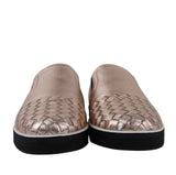 Bottega Veneta Women's Rose Gold Intrecciato Leather Slip On Shoe 428871 5710 - LUX LAIR