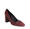 Bottega Veneta Chunky Heels Rose Suede Leather