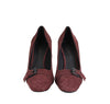 Bottega Veneta Chunky Heels Dark Rose Leather