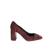 Bottega Veneta Chunky Heels Rose Suede - Leather Lining