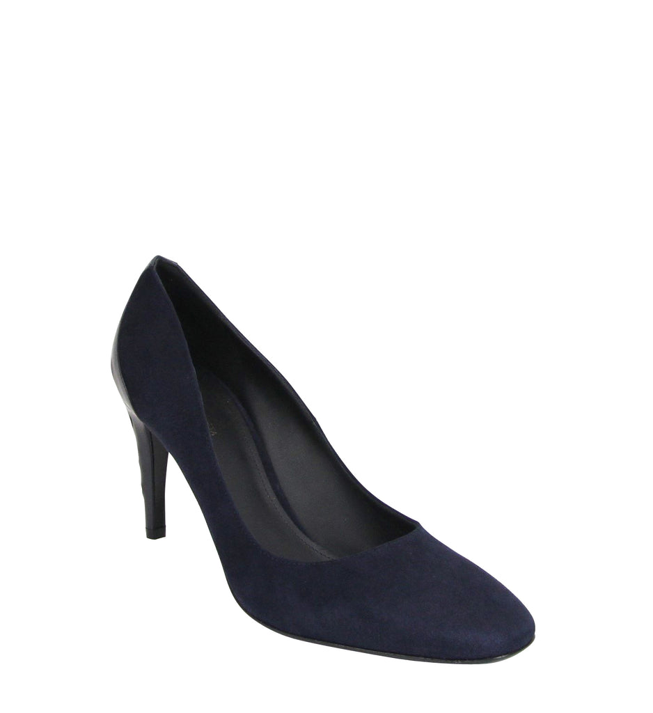 Bottega Veneta Stiletto Heels Navy Suede Leather