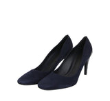 Bottega Veneta Stiletto Heels Dark Navy Suede For Women