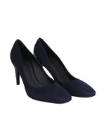 Bottega Veneta Stiletto Heels Navy Suede - Side Look