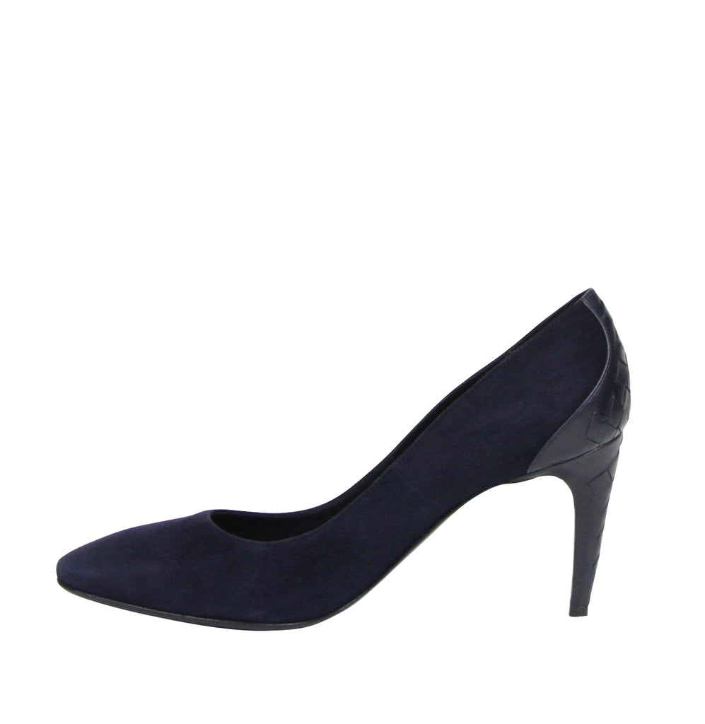 Bottega Veneta Stiletto Heels Navy Suede - Pumps Style