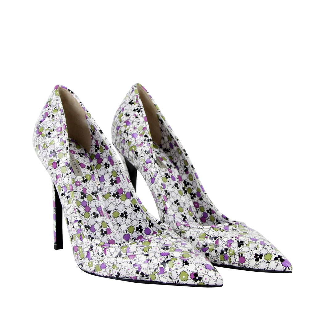 Bottega Veneta Leather Heels Floral - Designer Heels