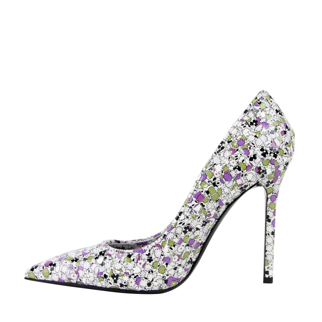 Bottega Veneta Leather Heels Floral - Stiletto Heels
