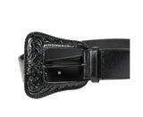 Saint Laurent Women's Black Leather Corset Western Belt 439728 1000 (75 / 30) - LUX LAIR