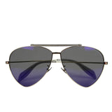 Alexander McQueen Sunglasses Unisex Blue - Made In Italy