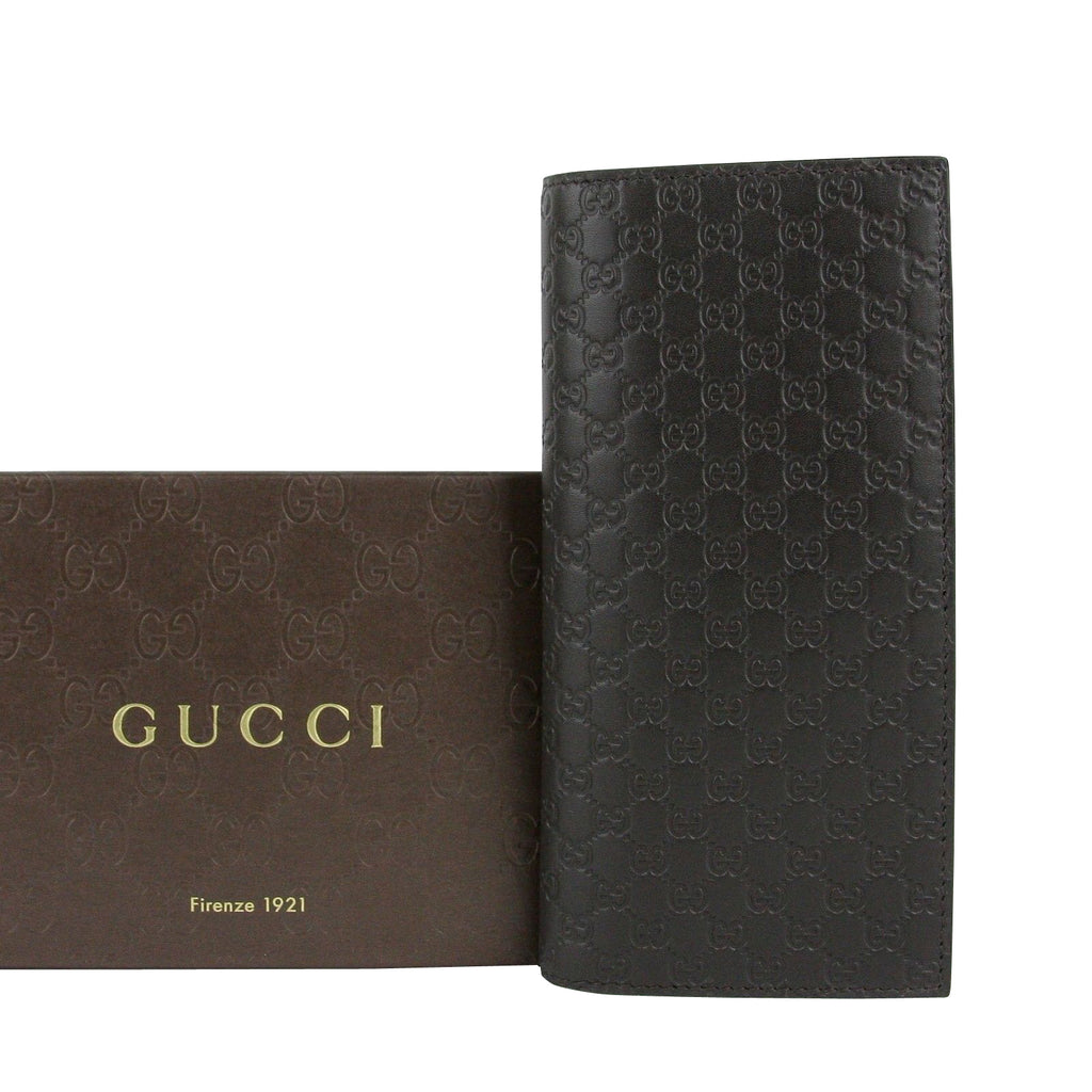 Gucci Microguccissima Brown Leather Wallet With ID window 449245 2044