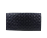 Gucci Microguccissima Blue Leather Wallet With ID window 449245 4009 - LUX LAIR