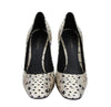 Bottega Veneta Pearl / Black Leather Elaphe Circle Stiletto Heels 451758 1909 - LUX LAIR