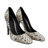 Bottega Veneta Women's Pearl / Black Leather Elaphe Circle Stiletto Heels 451758 1909