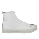 Alexander McQueen Men's Hi Top White / Ivory Canvas Sneaker 457297