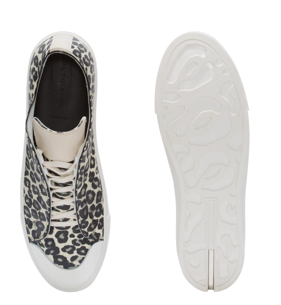 Alexander McQueen Leather Sneakers - Rubber Sole