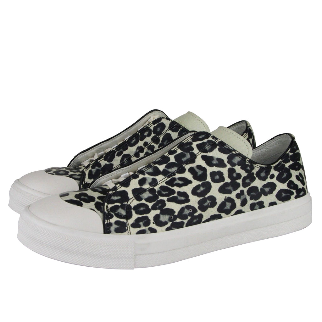 Alexander McQueen Leather Sneakers - Cheetah Print