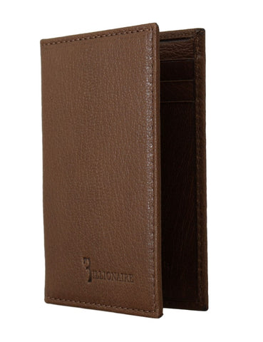 Billionaire Italian Couture Black Leather Bifold Men's Wallet