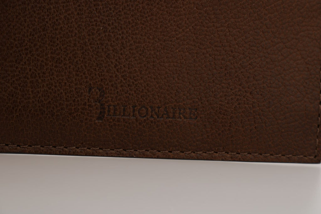 Billionaire Italian Couture Brown Leather Cardholder Men's Wallet