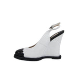 Bottega Veneta Women's Woven Wedge Off White Suede 465186 1185 - LUX LAIR