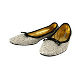 Bottega Veneta Ballet Flats Ivory Leather - Side Look