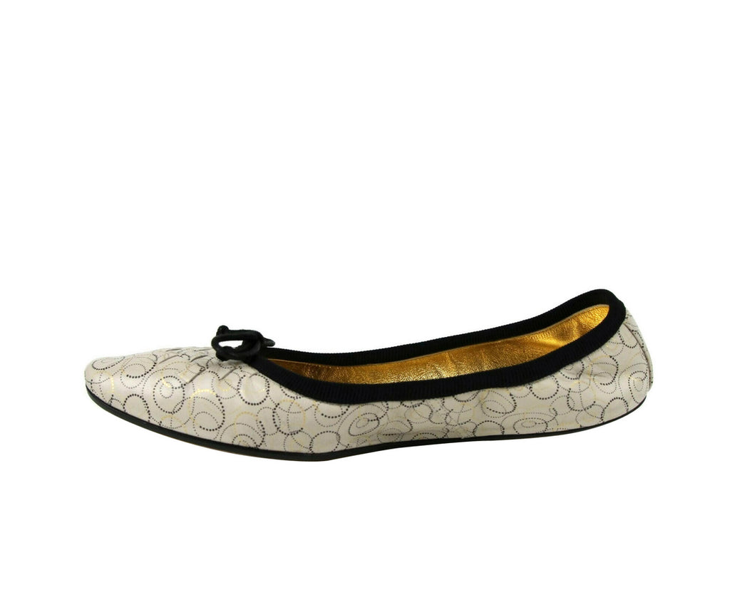 Bottega Veneta Ballet Flats Ivory Color - Leather Lining