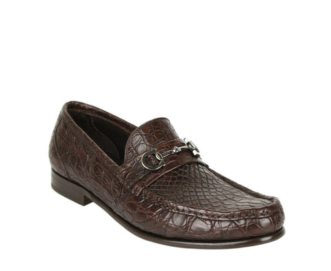 Dolce & Gabbana Green Leather Loafers Men's Shoes