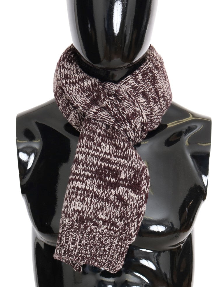 Dolce & Gabbana Bordeaux Wool Knitted Men's Scarf - LUX LAIR