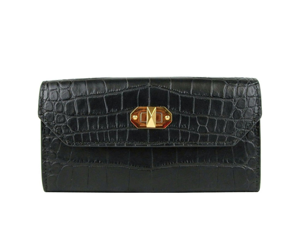 Alexander McQueen Continental Wallet Leather