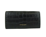 Alexander McQueen Continental Wallet Embossed Leather
