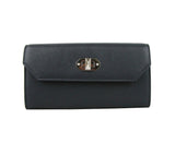 Alexander McQueen Continental Wallet Blue Leather
