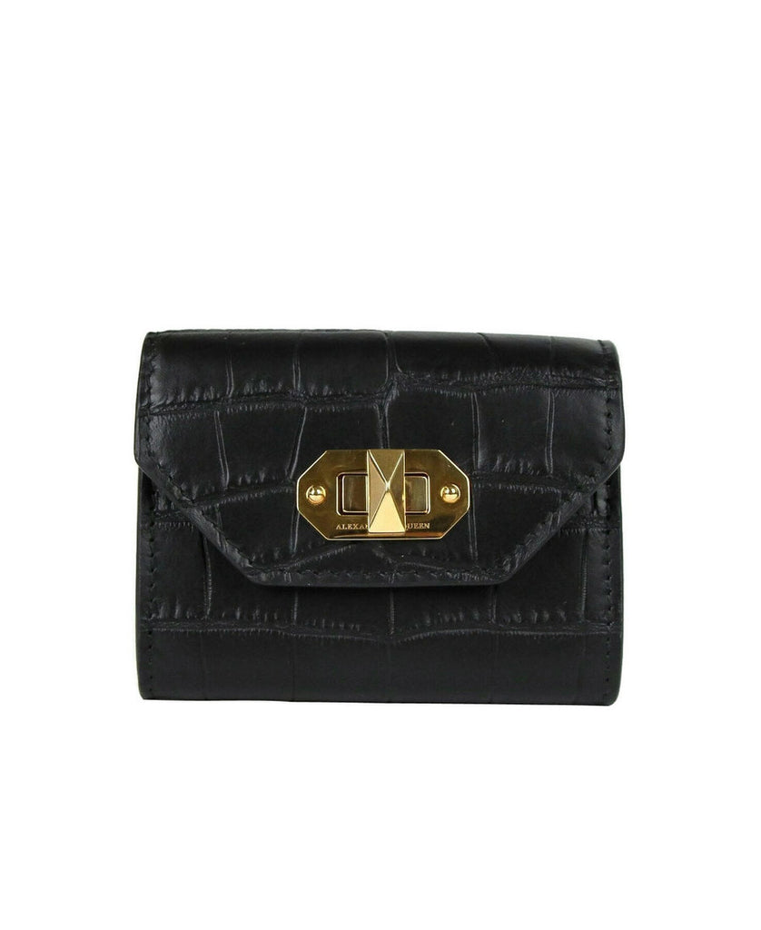 Alexander McQueen Card Holder Crocodile Leather
