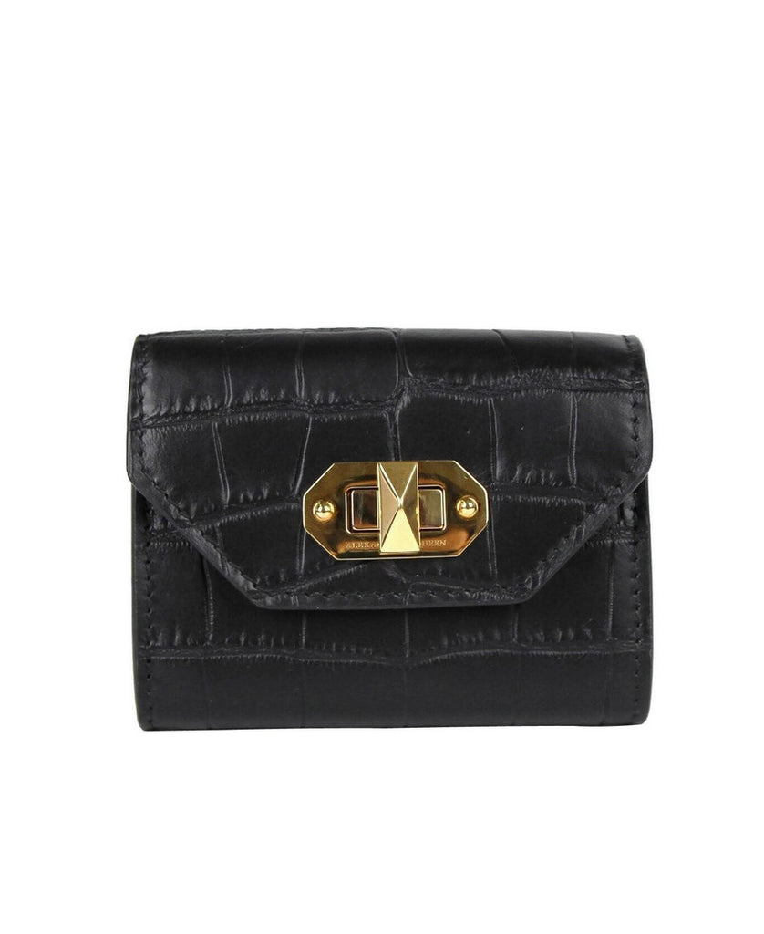 Alexander McQueen Card Holder Black Leather
