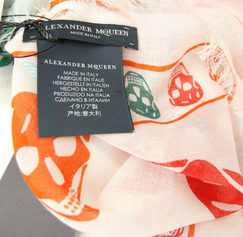 Alexander McQueen Shawl Multiskull Print - AM Tags