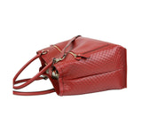Gucci Women's Red Guccissima Leather Large Shoulder Bag 510290 6420 - LUX LAIR